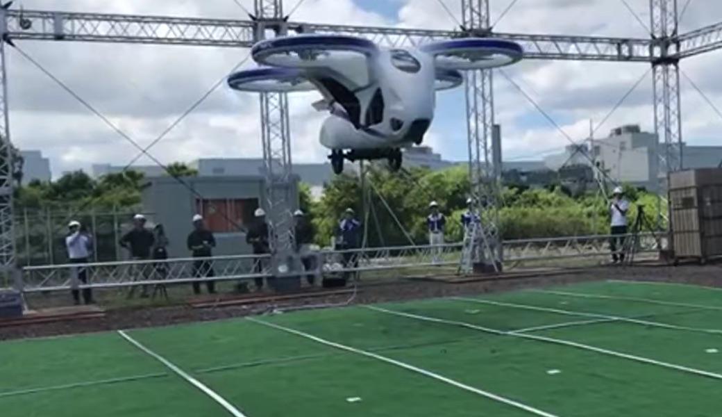 Testowy lot drona pasażerskiego w Japonii