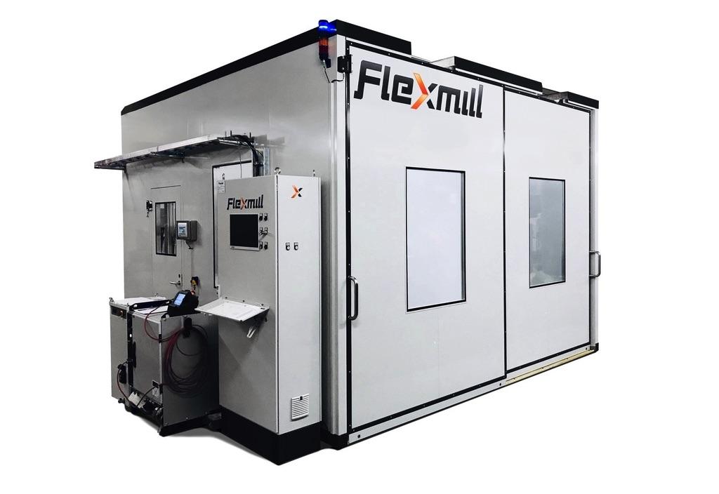 Zrobotyzowana cela gratująca i wykonująca fazowanie Flexmill