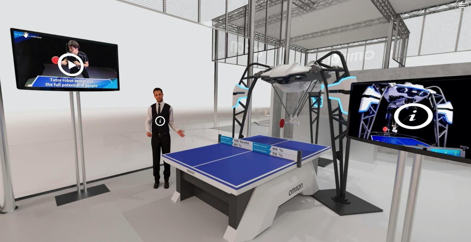 OMRON wirtualna wystawa robot FORPHEUS