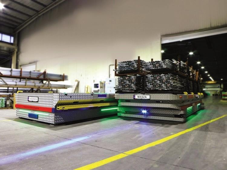 Zautomatyzowany procesu transportu SEW-EURODRIVE