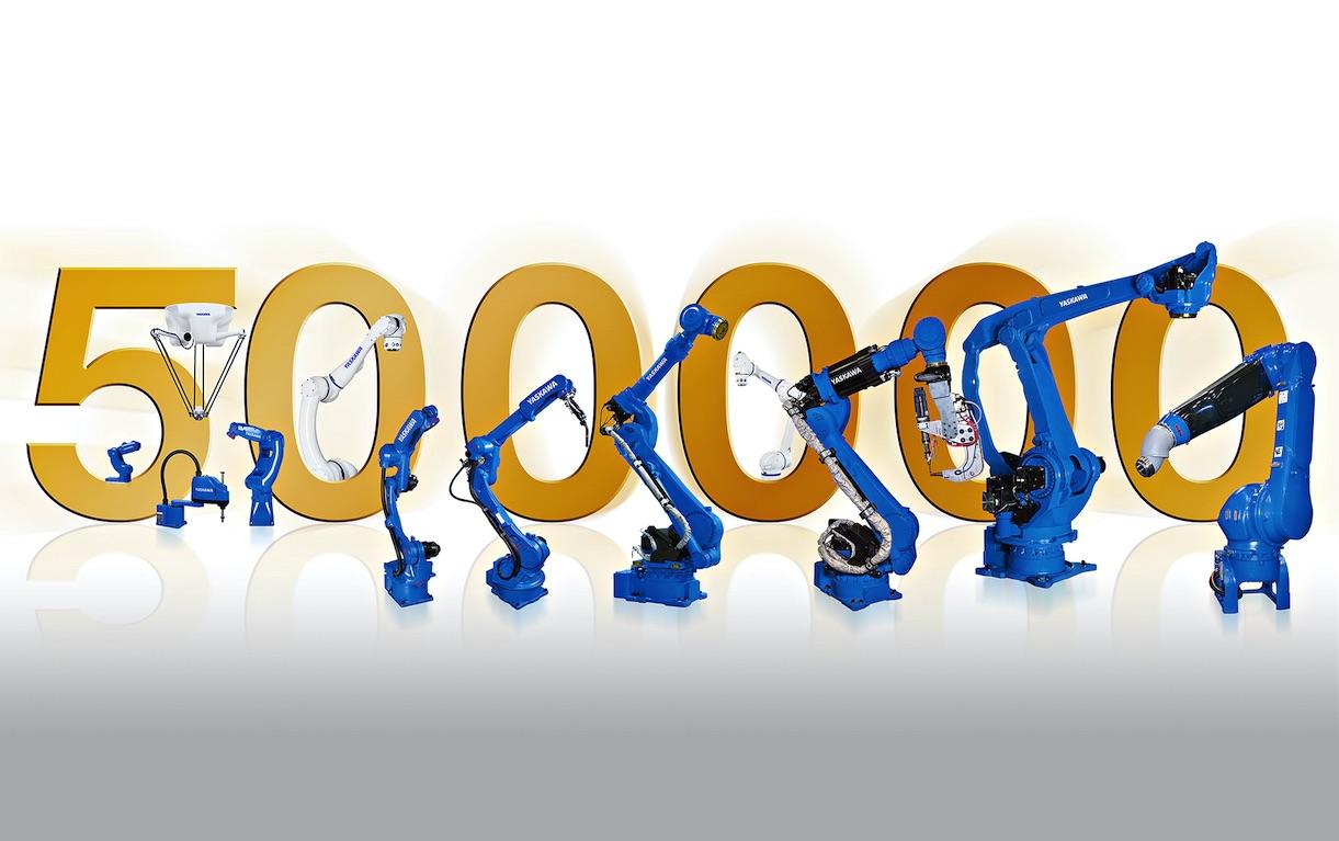 Sprzedanych 500 tysięcy robotów firmy Yaskawa