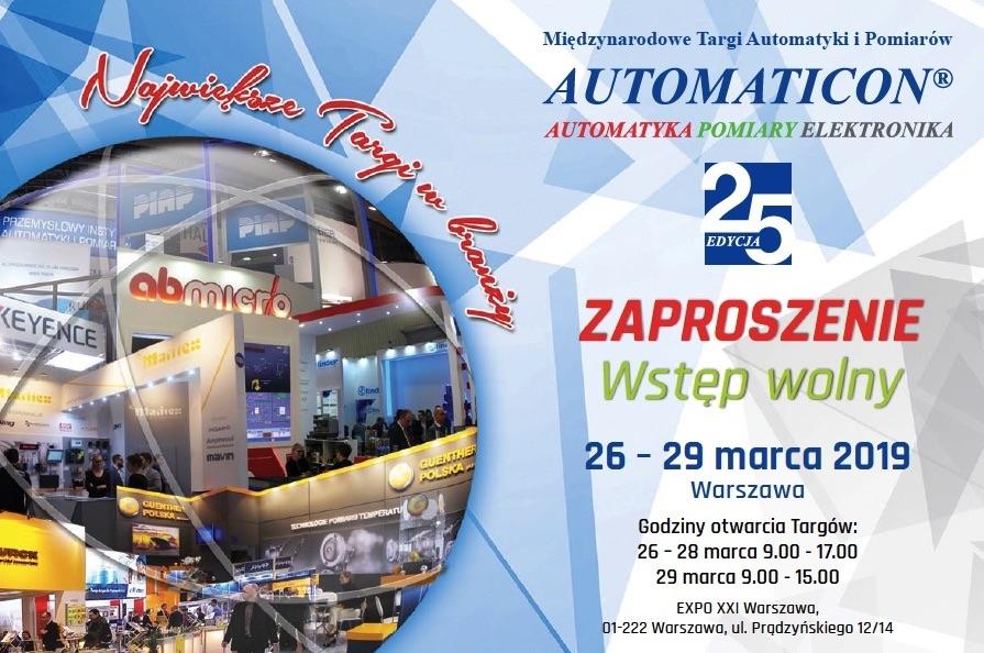 Targi Automatyki i Pomiarów Automaticon 2019