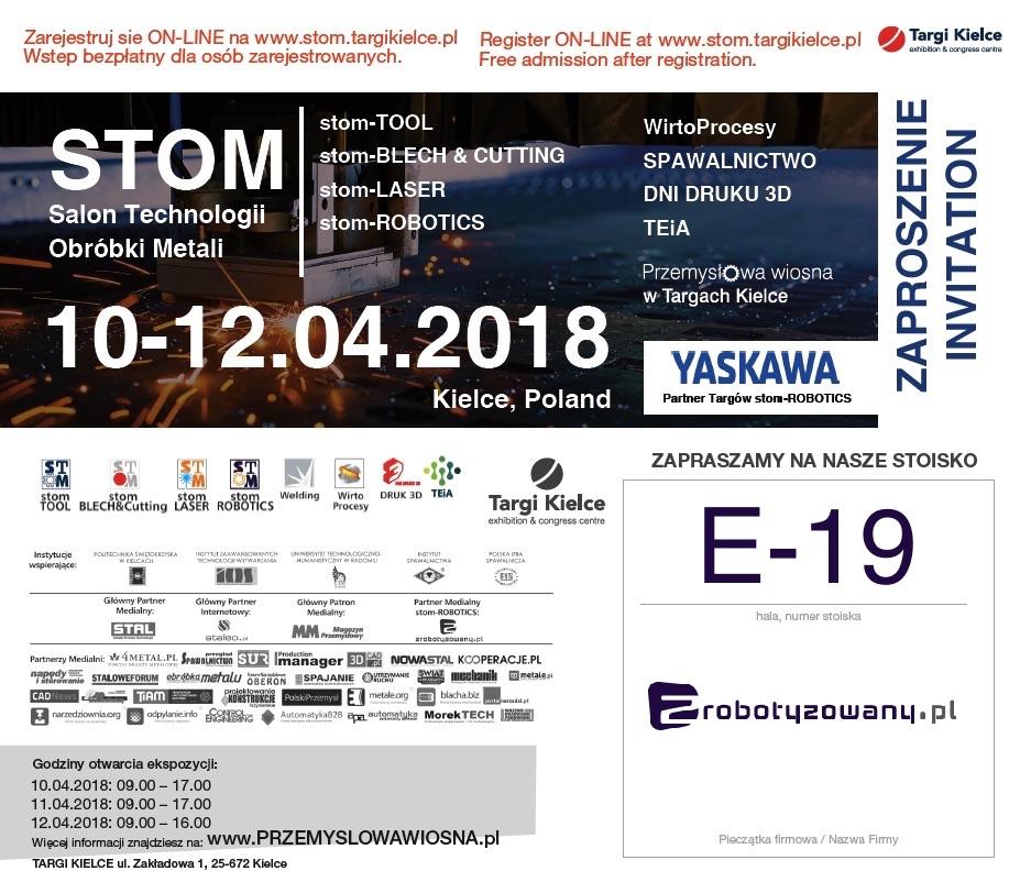 Bezpłatne zaproszenie na stom-ROBOTICS 2018