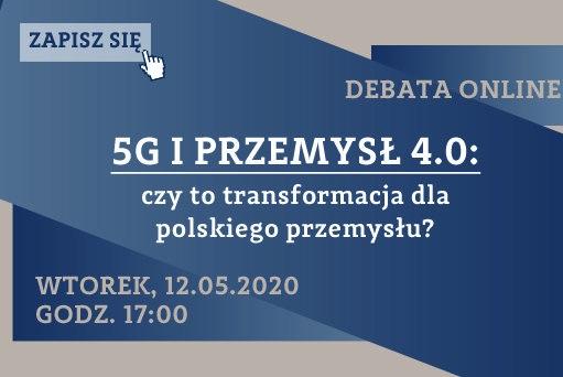 koncepcja Przemysłu 4.0 i technologii 5G